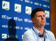 25 August 2020; FAI Interim Deputy CEO Niall Quinn during the launch of the WATCHLOI Half-Season Pass for the 2020 SSE Airtricity League Premier Division season run-in, at FAI Headquarters in Abbotstown, Dublin. Supporters will be able to watch the Premier Division 'Run-In' for just €39 in Ireland and €45 for the rest of the world. The Half-Season Pass has been launched ahead of the bumper Extra.ie FAI Cup second round weekend with six of the eight matches available. This means each match works out at less than a euro per game for what should be an exciting end to the season at both ends of the table. WATCHLOI has also launched FAI Gold as part of the Half-Season Pass package. FAI Gold is a new section of the service which will have selected Republic of Ireland matches available to watch from the RTE Archive, starting with Republic of Ireland v Netherlands in 1987. Photo by Stephen McCarthy/Sportsfile