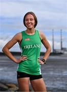 26 August 2020; Irish Paralympic athlete Greta Streimikyte pictured at Sandymount Strand in Dublin, showing her support for Circle K's 'Here for Ireland' initiative. Customers can scan the Circle K app and Play or Park loyalty tag in-store to generate digital coins, which Irish Paralympic and Olympic athletes can use to fuel their journey to Tokyo. Photo by Sam Barnes/Sportsfile