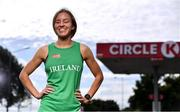26 August 2020; Irish Paralympic athlete Greta Streimikyte pictured at Circle K Martello, in Sandymount, Dublin, showing her support for Circle K's 'Here for Ireland' initiative. Customers can scan the Circle K app and Play or Park loyalty tag in-store to generate digital coins, which Irish Paralympic and Olympic athletes can use to fuel their journey to Tokyo. Photo by Sam Barnes/Sportsfile