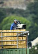 14 August 2020; A television camera operator during the Down County Senior Club Football Championship Round 1 match between Kilcoo and Mayobridge at Páirc Esler in Newry, Down. Photo by Piaras Ó Mídheach/Sportsfile