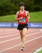 22 August 2020; Darragh Lynch of Ennis Track AC, Clare competing in the Men's 5000m during Day One of the Irish Life Health National Senior and U23 Athletics Championships at Morton Stadium in Santry, Dublin. Photo by Sam Barnes/Sportsfile