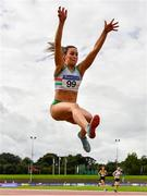 22 August 2020; Saragh Buggy of St. Abbans AC, Carlow, competing in the Women's Long Jump during Day One of the Irish Life Health National Senior and U23 Athletics Championships at Morton Stadium in Santry, Dublin. Photo by Sam Barnes/Sportsfile
