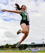 22 August 2020; Lydia Mills of Ballymena and Antrim AC, Antrim, competing in the Women's Long Jump during Day One of the Irish Life Health National Senior and U23 Athletics Championships at Morton Stadium in Santry, Dublin. Photo by Sam Barnes/Sportsfile