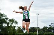 22 August 2020; Lydia Mills of Ballymena and Antrim AC, competing in the Women's Long Jump competing in the Women's Long Jump during Day One of the Irish Life Health National Senior and U23 Athletics Championships at Morton Stadium in Santry, Dublin. Photo by Sam Barnes/Sportsfile