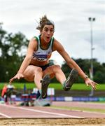 22 August 2020; Ruby Millet of St. Abbans AC, Carlow, competing in the Women's Long Jump during Day One of the Irish Life Health National Senior and U23 Athletics Championships at Morton Stadium in Santry, Dublin. Photo by Sam Barnes/Sportsfile