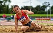 22 August 2020; Anna Mccauley of City of Lisburn AC, Down, competing in the Women's Long Jump during Day One of the Irish Life Health National Senior and U23 Athletics Championships at Morton Stadium in Santry, Dublin. Photo by Sam Barnes/Sportsfile