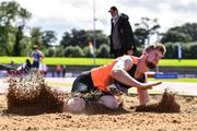 22 August 2020; Darragh Miniter of Nenagh Olympic AC, Tipperary, competing in the Men's Long Jump during Day One of the Irish Life Health National Senior and U23 Athletics Championships at Morton Stadium in Santry, Dublin. Photo by Sam Barnes/Sportsfile
