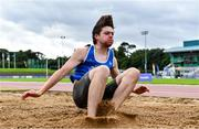 22 August 2020; Luke O Carroll of Tralee Harriers AC, Kerry, competing in the Men's Long Jump during Day One of the Irish Life Health National Senior and U23 Athletics Championships at Morton Stadium in Santry, Dublin. Photo by Sam Barnes/Sportsfile
