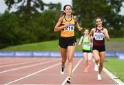 22 August 2020; Sinead O'Connor of Leevale AC, Cork, crosses the line to finish second in the Women's 5000m during Day One of the Irish Life Health National Senior and U23 Athletics Championships at Morton Stadium in Santry, Dublin. Photo by Sam Barnes/Sportsfile