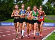 22 August 2020; A general view of the field during the Junior Women's 5000m during Day One of the Irish Life Health National Senior and U23 Athletics Championships at Morton Stadium in Santry, Dublin. Photo by Sam Barnes/Sportsfile