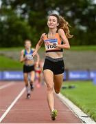 22 August 2020; Holly Brennan of Cilles AC, Meath, on her way to winning the Junior Women's 5000m during Day One of the Irish Life Health National Senior and U23 Athletics Championships at Morton Stadium in Santry, Dublin. Photo by Sam Barnes/Sportsfile