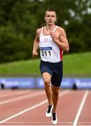 22 August 2020; Christopher O'Donnell of North Sligo AC, competing in the Men's 400m heats during Day One of the Irish Life Health National Senior and U23 Athletics Championships at Morton Stadium in Santry, Dublin. Photo by Sam Barnes/Sportsfile