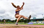 22 August 2020; Maeve Hayes of St. Pauls AC, Wexford, competing in the Women's Long Jump during Day One of the Irish Life Health National Senior and U23 Athletics Championships at Morton Stadium in Santry, Dublin. Photo by Sam Barnes/Sportsfile