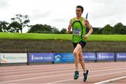 22 August 2020; Patrick Ryan of Rathfarnham WSAF AC, Dublin, competing in the Junior Men's 5000m during Day One of the Irish Life Health National Senior and U23 Athletics Championships at Morton Stadium in Santry, Dublin. Photo by Sam Barnes/Sportsfile