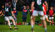 15 August 2020; Injured Cuala player Con O'Callaghan looks on during the Dublin County Senior 2 Football Championship Group 2 Round 3 match between Cuala and Parnells at Hyde Park in Dublin. Photo by Piaras Ó Mídheach/Sportsfile