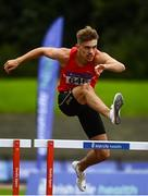 22 August 2020; Cathal Locke of Dooneen AC, Limerick, competing in the Men's 400m Hurdles during Day One of the Irish Life Health National Senior and U23 Athletics Championships at Morton Stadium in Santry, Dublin. Photo by Sam Barnes/Sportsfile