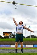 22 August 2020; Colm Donoghue of Lusk AC, Dublin, competing in the Men's Weight for Height during Day One of the Irish Life Health National Senior and U23 Athletics Championships at Morton Stadium in Santry, Dublin. Photo by Sam Barnes/Sportsfile