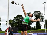 22 August 2020; John Dwyer of Templemore AC, Tipperary, competing in the Men's Weight for Height during Day One of the Irish Life Health National Senior and U23 Athletics Championships at Morton Stadium in Santry, Dublin. Photo by Sam Barnes/Sportsfile