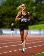 22 August 2020; Shannon Kelly of Raheny Shamrock AC, Dublin, competing in the Women's 5000m during Day One of the Irish Life Health National Senior and U23 Athletics Championships at Morton Stadium in Santry, Dublin. Photo by Sam Barnes/Sportsfile