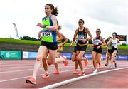 22 August 2020; Catherina Mullen of Metro/St. Brigid's AC, Dublin, leads the field whilst competing in the Women's 5000m during Day One of the Irish Life Health National Senior and U23 Athletics Championships at Morton Stadium in Santry, Dublin. Photo by Sam Barnes/Sportsfile