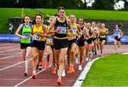 22 August 2020; Nakita Burke of Letterkenny AC, Donegal, leads the field whilst competing in the Women's 5000m during Day One of the Irish Life Health National Senior and U23 Athletics Championships at Morton Stadium in Santry, Dublin. Photo by Sam Barnes/Sportsfile