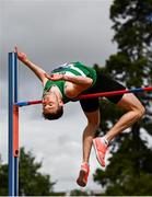 23 August 2020; David Cussen of Old Abbey AC, Cork, competing in the Men's High Jump during Day Two of the Irish Life Health National Senior and U23 Athletics Championships at Morton Stadium in Santry, Dublin. Photo by Sam Barnes/Sportsfile