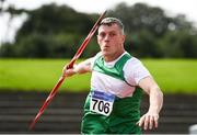 23 August 2020; Conal Campion of St. Andrews AC, Meath, competing in the Men's Javelin during Day Two of the Irish Life Health National Senior and U23 Athletics Championships at Morton Stadium in Santry, Dublin. Photo by Sam Barnes/Sportsfile