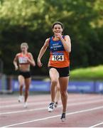 23 August 2020; Grainne Moynihan of West Muskerry AC,  Cork, competing in the Women's 400m during Day Two of the Irish Life Health National Senior and U23 Athletics Championships at Morton Stadium in Santry, Dublin. Photo by Sam Barnes/Sportsfile