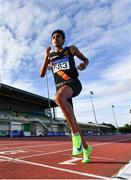 23 August 2020; Eferm Gidey of Clonliffe Harriers AC, Dublin, competing in the Men's 5000m during Day Two of the Irish Life Health National Senior and U23 Athletics Championships at Morton Stadium in Santry, Dublin. Photo by Sam Barnes/Sportsfile