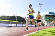 23 August 2020; Peter Arthur of Liffey Valley AC, Dublin, competing in the Men's 5000m during Day Two of the Irish Life Health National Senior and U23 Athletics Championships at Morton Stadium in Santry, Dublin. Photo by Sam Barnes/Sportsfile