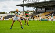 29 August 2020; Colin Fennelly of Ballyhale Shamrocks shoots to score his side's fourth goal during the Kilkenny County Senior Hurling Championship Round 1 match between Ballyhale Shamrocks and Rower Inistioge at UPMC Nowlan Park in Kilkenny. Photo by Seb Daly/Sportsfile