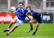29 August 2020; Adam Fearon of Skerries Harps gets past Tom Lahiff of St Jude's during the Dublin County Senior Football Championship Quarter-Final match between St Jude's and Skerries Harps at Parnell Park in Dublin. Photo by Piaras Ó Mídheach/Sportsfile