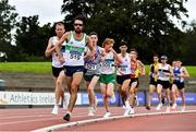 29 August 2020; Mick Clohisey of Raheny Shamrocks AC, Dublin, leads the field whilst competing in the Men's 10000m  event during day three of the Irish Life Health National Senior and U23 Athletics Championships at Morton Stadium in Santry, Dublin. Photo by Sam Barnes/Sportsfile