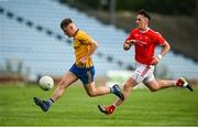 29 August 2020; Conor Flynn of Knockmore in action against Cillian O'Connor of Ballintubber during the Mayo County Senior Football Championship Quarter-Final match between Ballintubber and Knockmore at Elverys MacHale Park in Castlebar, Mayo. Photo by David Fitzgerald/Sportsfile