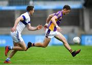 29 August 2020; Paul Mannion of Kilmacud Crokes in action against Jarlath Curley of St Vincent's during the Dublin County Senior Football Championship Quarter-Final match between Kilmacud Crokes and St Vincent's at Parnell Park in Dublin. Photo by Piaras Ó Mídheach/Sportsfile