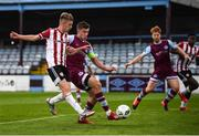29 August 2020; Ciaron Harkin of Derry City scores his side's first goal during the Extra.ie FAI Cup Second Round match between Drogheda United and Derry City at United Park in Drogheda, Louth. Photo by Stephen McCarthy/Sportsfile