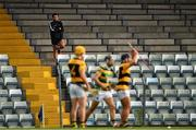 29 August 2020; Na Piarsaigh selector Sean Og O'Hailpin watches from the stand during the Cork County Senior Hurling Championship Group C Round 3 match between Glen Rovers and Na Piarsaigh at Pairc Ui Rinn in Cork. Photo by Eóin Noonan/Sportsfile