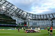 29 August 2020; A general view of a scrum during the Guinness PRO14 Round 15 match between Ulster and Leinster at the Aviva Stadium in Dublin. Photo by Ramsey Cardy/Sportsfile