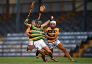 29 August 2020; Simon Kennefick of Glen Rovers in action against Shane Forde of Na Piarsaigh during the Cork County Senior Hurling Championship Group C Round 3 match between Glen Rovers and Na Piarsaigh at Pairc Ui Rinn in Cork. Photo by Eóin Noonan/Sportsfile