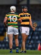 29 August 2020; Patrick Horgan of Glen Rovers shakes hands with Christopher Joyce of Na Piarsaigh following the Cork County Senior Hurling Championship Group C Round 3 match between Glen Rovers and Na Piarsaigh at Pairc Ui Rinn in Cork. Photo by Eóin Noonan/Sportsfile