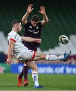 29 August 2020; John Cooney of Ulster in action against Josh Murphy of Leinster during the Guinness PRO14 Round 15 match between Ulster and Leinster at the Aviva Stadium in Dublin. Photo by Brendan Moran/Sportsfile