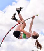 30 August 2020; Orla Coffey of Carraig-Na-Bhfear AC, Cork, on her way to winning the Women's Pole Vault event during day four of the Irish Life Health National Senior and U23 Athletics Championships at Morton Stadium in Santry, Dublin. Photo by Sam Barnes/Sportsfile