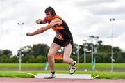 30 August 2020; Mark Tierney of Nenagh Olympic AC, Tipperary, competing in the Men's Shot Put event during day four of the Irish Life Health National Senior and U23 Athletics Championships at Morton Stadium in Santry, Dublin. Photo by Sam Barnes/Sportsfile