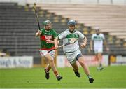 29 August 2020; Brian Cody of Ballyhale Shamrocks in action against Tommy Grace of Rower Inistioge during the Kilkenny County Senior Hurling Championship Round 1 match between Ballyhale Shamrocks and Rower Inistioge at UPMC Nowlan Park in Kilkenny. Photo by Seb Daly/Sportsfile