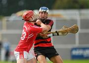 30 August 2020; Paddy Leavy of Ballygunner in action against Jason Roche of Passage during the Waterford County Senior Hurling Championship Final match between Passage and Ballygunner at Walsh Park in Waterford. Photo by Seb Daly/Sportsfile
