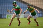 30 August 2020; John Meagher of Loughmore - Castleiney in action against Cathal Bourke of Clonoulty Rossmore during the Tipperary County Senior Hurling Championships Quarter-Final match between Clonoulty/Rossmore and Loughmore-Castleiney at Semple Stadium in Thurles, Tipperary. Photo by Harry Murphy/Sportsfile