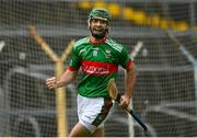 30 August 2020; Ciaran McGrath of Loughmore-Castleiney celebrates after scoring his side's second goal during the Tipperary County Senior Hurling Championships Quarter-Final match between Clonoulty/Rossmore and Loughmore-Castleiney at Semple Stadium in Thurles, Tipperary. Photo by Harry Murphy/Sportsfile