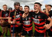 30 August 2020; Ballygunner players, from left, Pauric Mahony, Conor Sheahan and Peter Hogan celebrate with team-mates following their side's victory during the Waterford County Senior Hurling Championship Final match between Passage and Ballygunner at Walsh Park in Waterford. Photo by Seb Daly/Sportsfile
