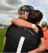 30 August 2020; Pauric Mahony and Stephen O'Keeffe of Ballygunner celebrate following their side's victory during the Waterford County Senior Hurling Championship Final match between Passage and Ballygunner at Walsh Park in Waterford. Photo by Seb Daly/Sportsfile