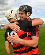 30 August 2020; Philip Mahony, right, and Dessie Hutchinson of Ballygunner congratulate each other following their side's victory during the Waterford County Senior Hurling Championship Final match between Passage and Ballygunner at Walsh Park in Waterford. Photo by Seb Daly/Sportsfile